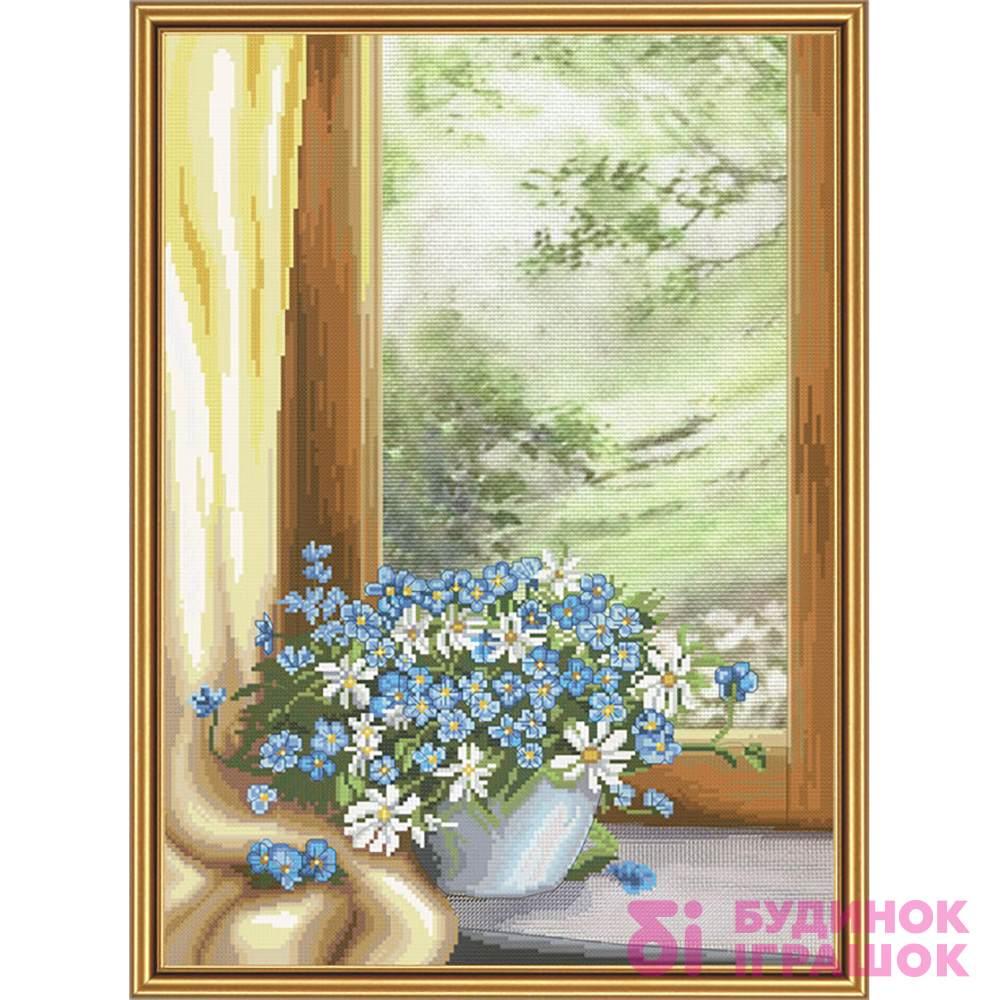 Набори для рукоділля - Набір для вишивання нитками на канві з фоновим  малюнком Квіткова фантазія Nova 4c5b9ab911a06