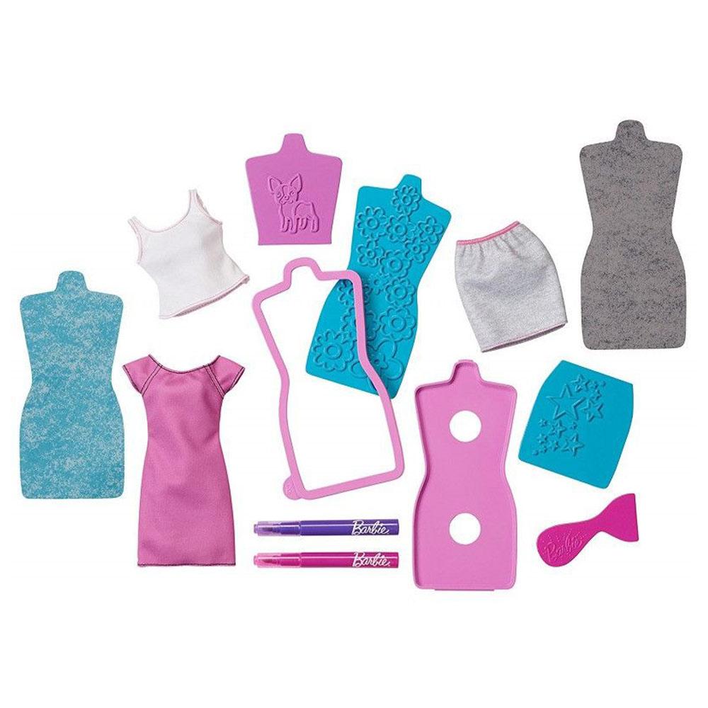 Купить Куклы, наборы для кукол, Игровой набор Яркие принты Barbie розово-зеленый (DYV66/DYV68), Mattel