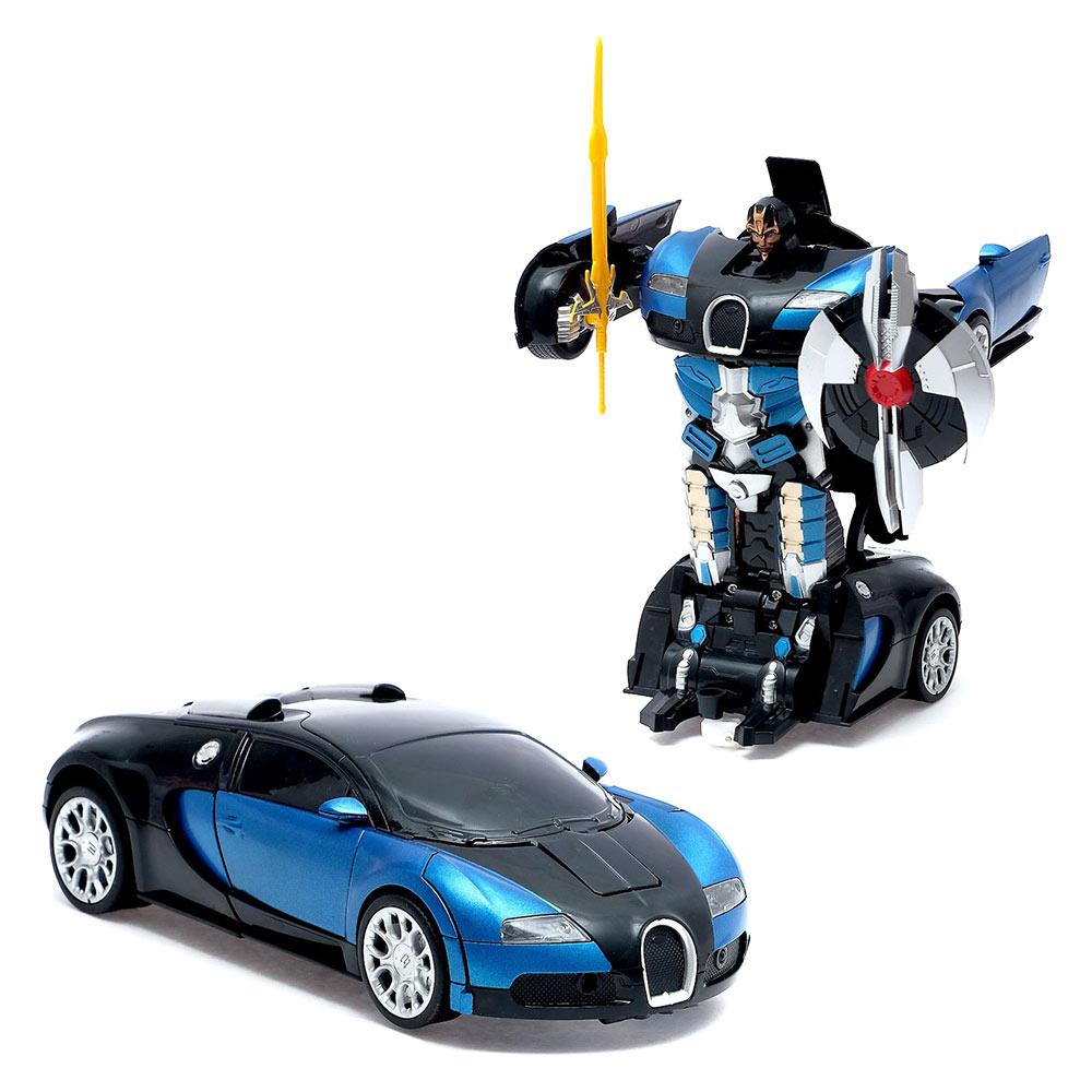 Машинка-трансформер MZ Bugatti на радиоуправлении 1:22 синяя (2331X/2331X-2)