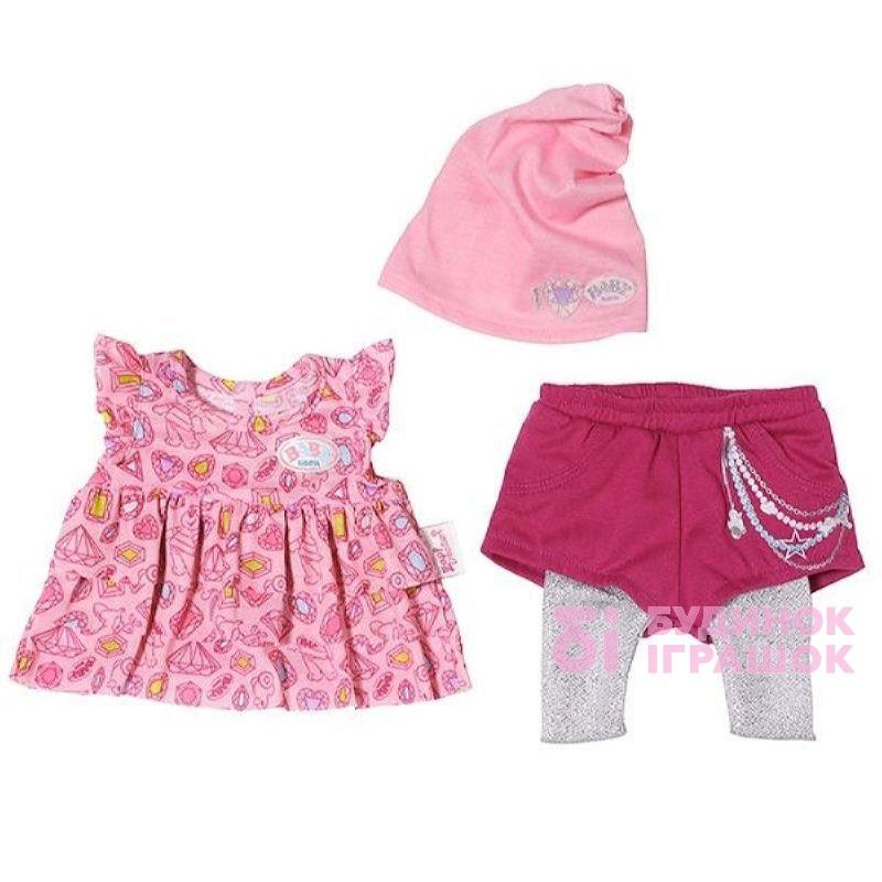 802a8ecd14eeb0 Одяг та аксесуари для ляльок - Набір одягу для ляльки Модний сезон Baby  Born рожеве плаття