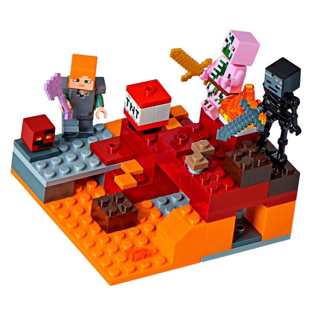 202ca9076 Конструктори LEGO - Конструктор битва в Нижньому світі LEGO Minecraft  (21139)