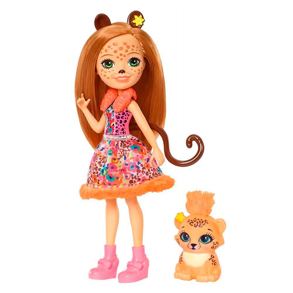Купить Куклы, наборы для кукол, Кукла Enchantimals Гепард Чериш (FJJ20), Mattel