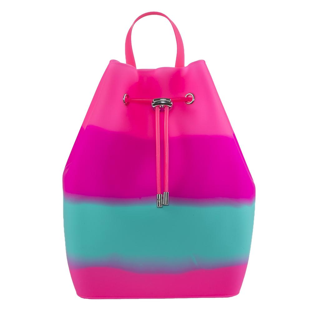 Рюкзаки и сумки - Рюкзак Tinto розово-бирюзовый из силикона (BP44.87) 01ae3821ddc