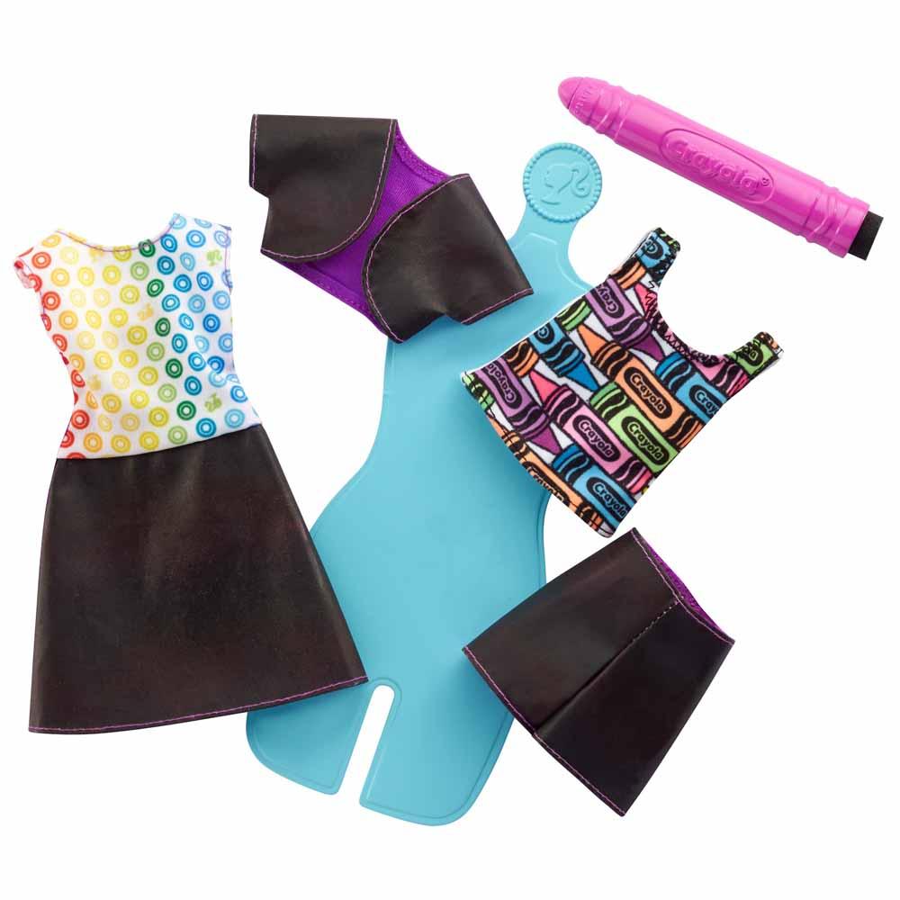 Набір одягу Barbie Crayola Зітри та намалюй Веселка Дизайн 2 (FHW85 FHW87)  - купити в магазині дитячих іграшок  Будинок іграшок  f3be6cd158277