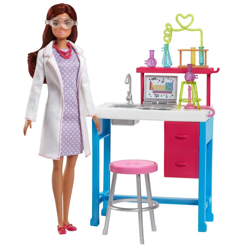 Купить Куклы, наборы для кукол, Набор Barbie Научная лаборатория Барби (FJB25/FJB28), Mattel