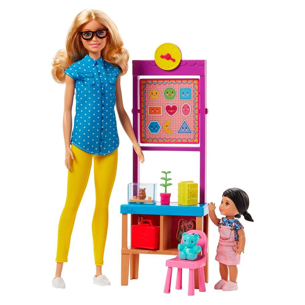 Купить Куклы, наборы для кукол, Набор Barbie Любимая профессия Учитель (DHB63/FJB29), Mattel