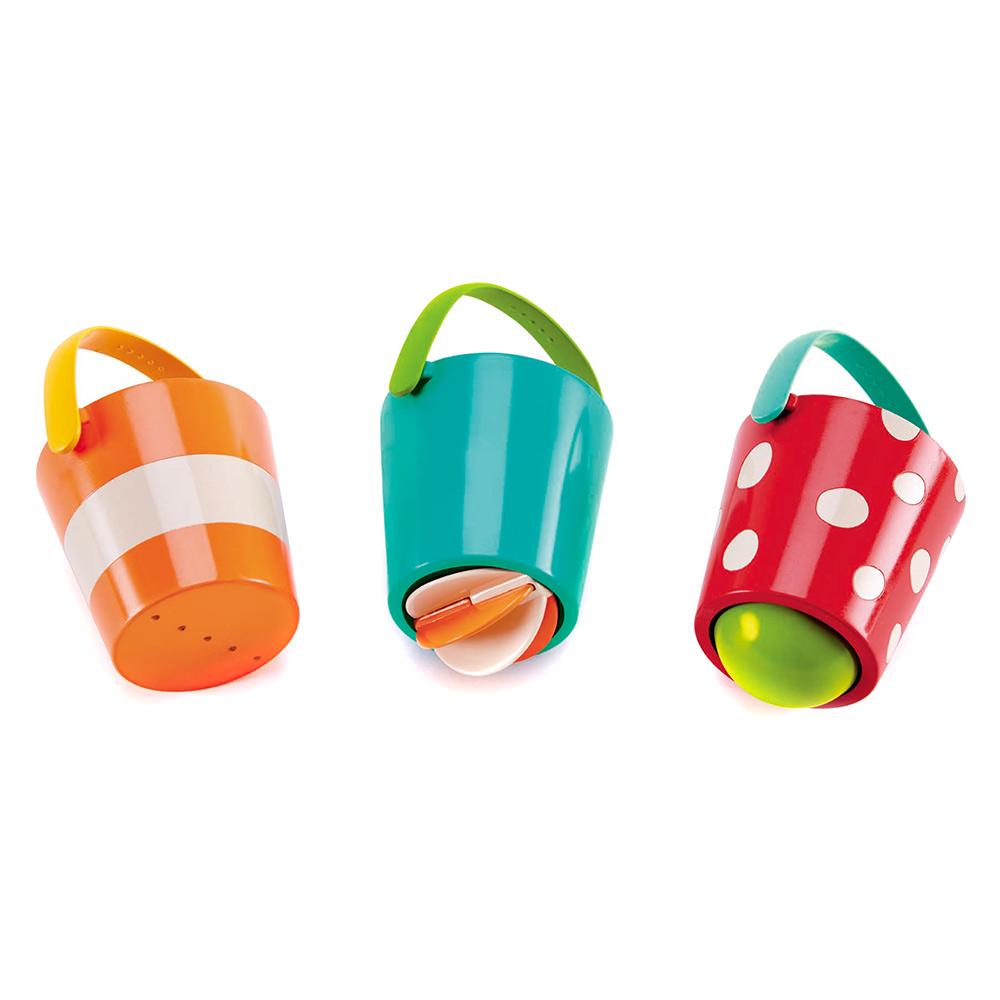 Купить Игрушки для самых маленьких, Набор для ванны Hape Счастливые ведра (E0205)
