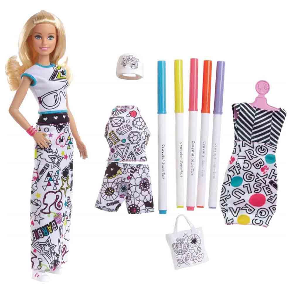 Кукольный набор Barbie Crayola Раскраска одежды (FPH90) - купить в магазине  детских игрушек  Будинок іграшок  6b43d000750