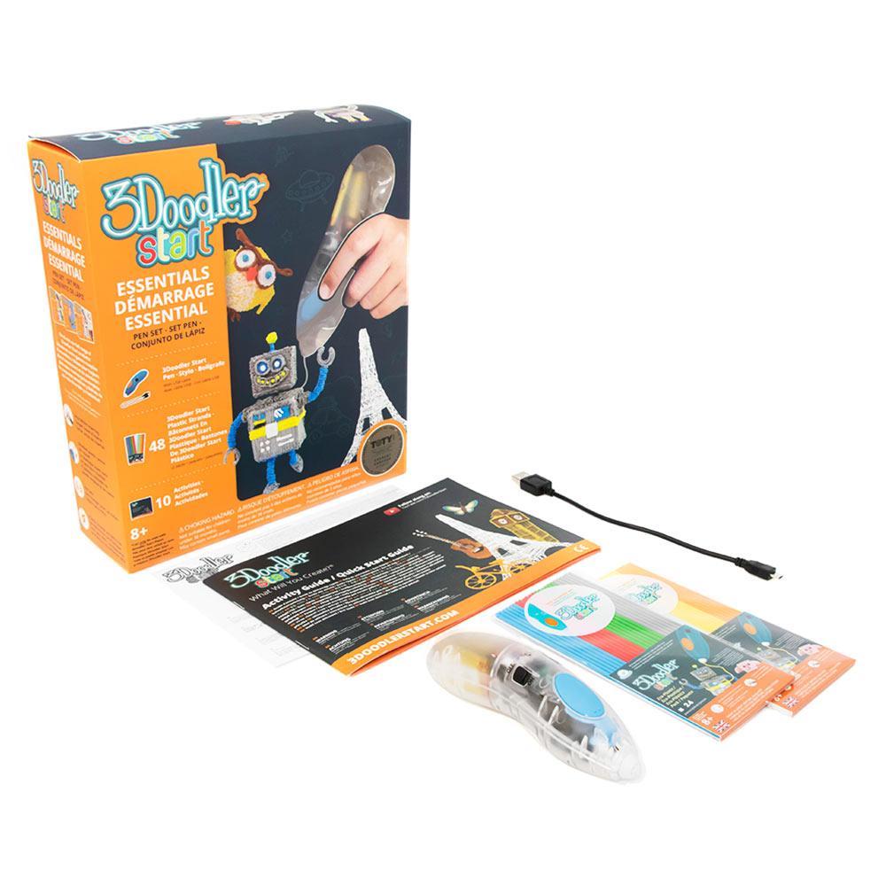 Купить Наборы для творчества и рукоделия, 3D-ручка 3Doodler Start Креатив прозрачная (8SPSESCL3R)