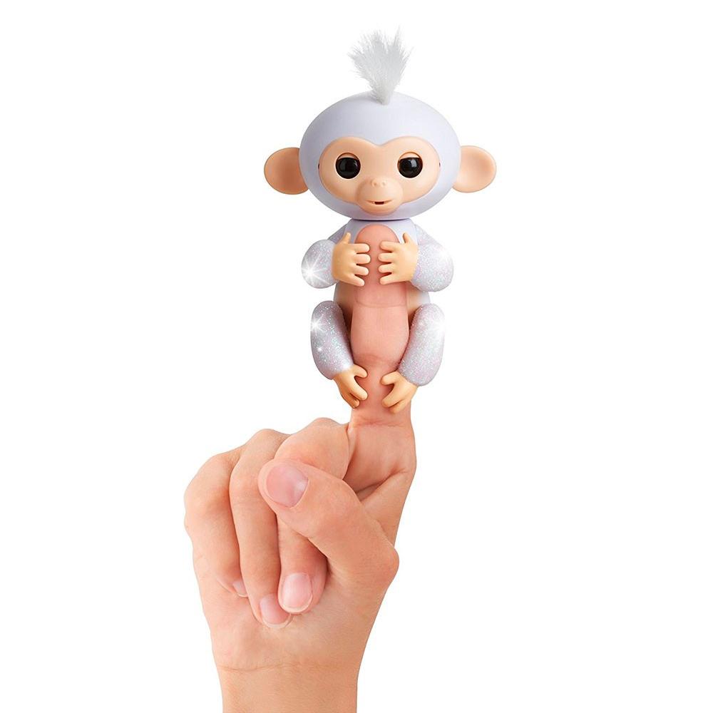 Купить Персонажи мультфильмов, игровые фигурки, Интерактивная фигурка Fingerlings Обезьянка Сахарок белая (W3760/3763)