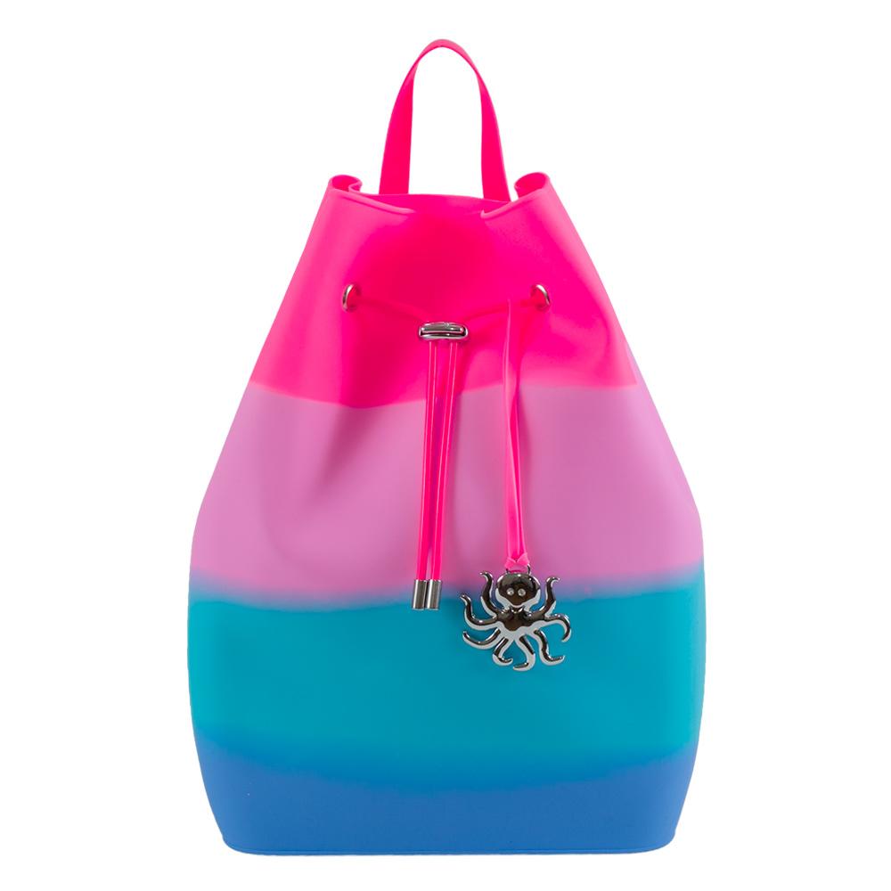 Рюкзаки и сумки - Рюкзак Tinto Zipline силиконовый розово-голубой (ZP11.50) 5313267dcea