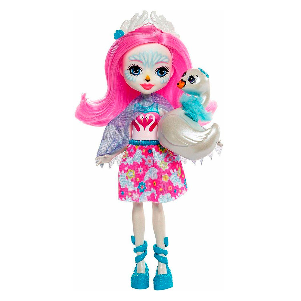 Купить Куклы, наборы для кукол, Кукла Enchantimals Лебедь Саффи (FRH38), Mattel