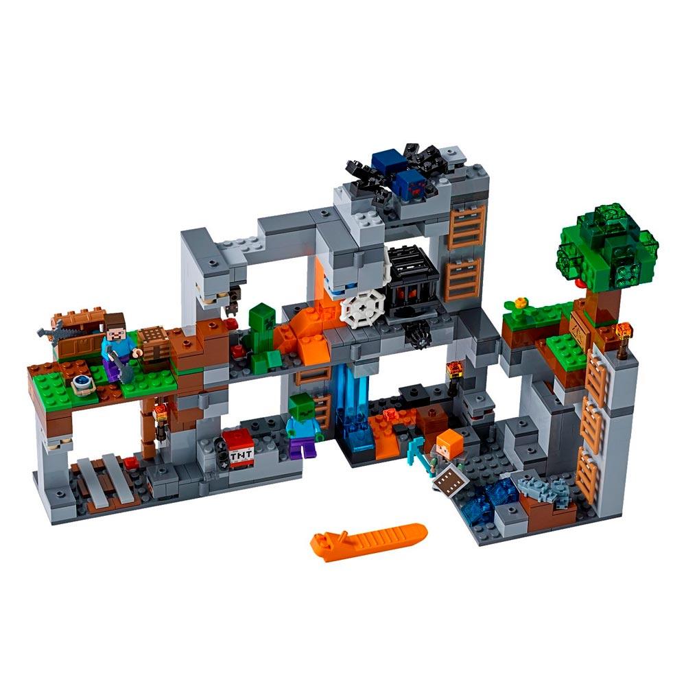 конструктор Lego Minecraft приключения на скалах 21147 будинок іграшок купить в