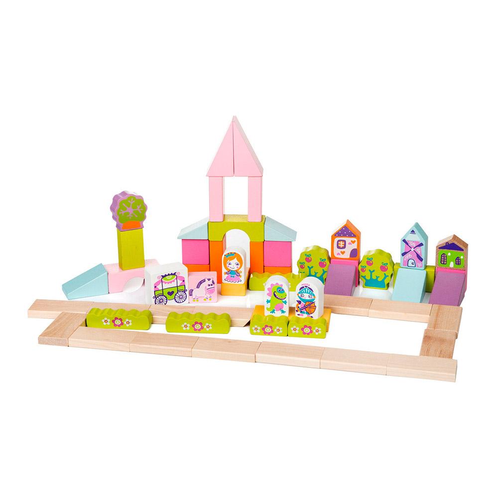 деревянный конструктор Cubika городок для девочек 13906 будинок іграшок купить в киеве харькове одессе днепре по выгодной цене