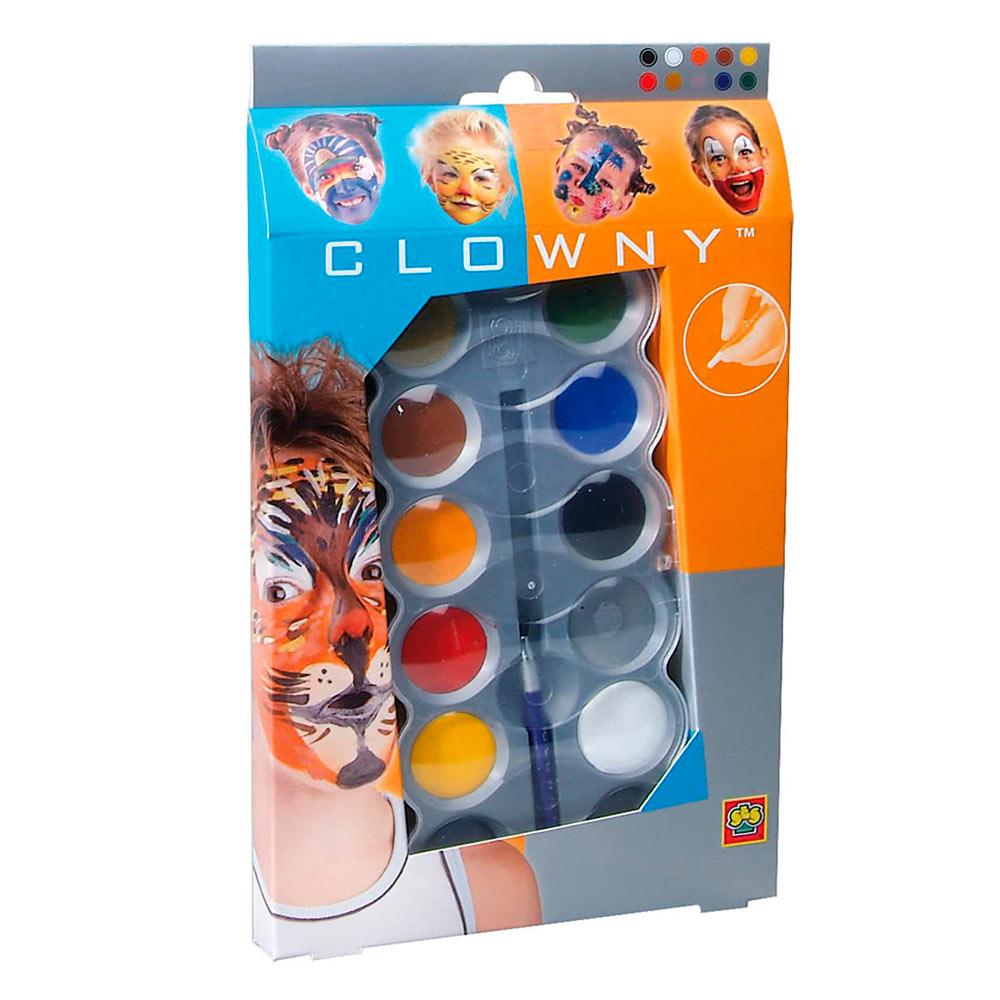 Купить Наборы для творчества и рукоделия, Аквагрим SES Красочный настроение 10 красок и кисточка (09694S), Ses Creative
