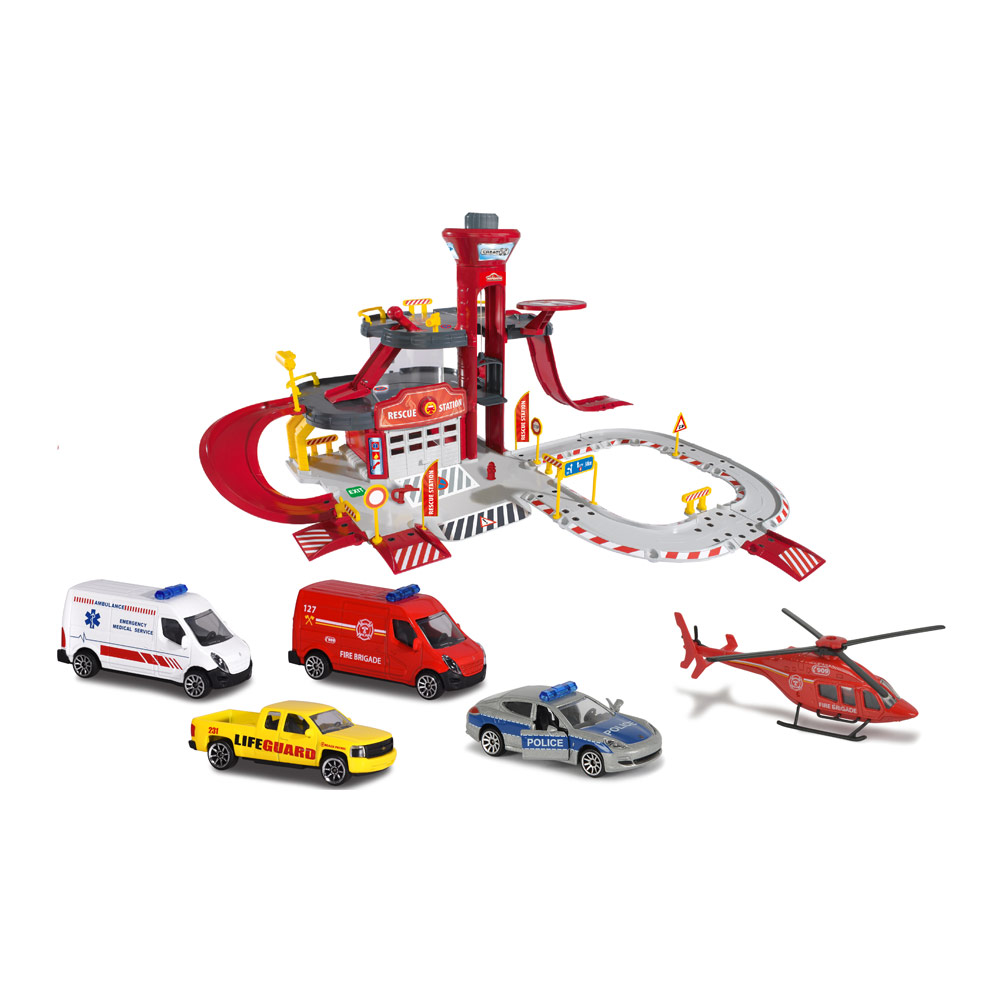 Купить Игровые наборы, Игровой набор Majorette Спасательная станция (2050019)