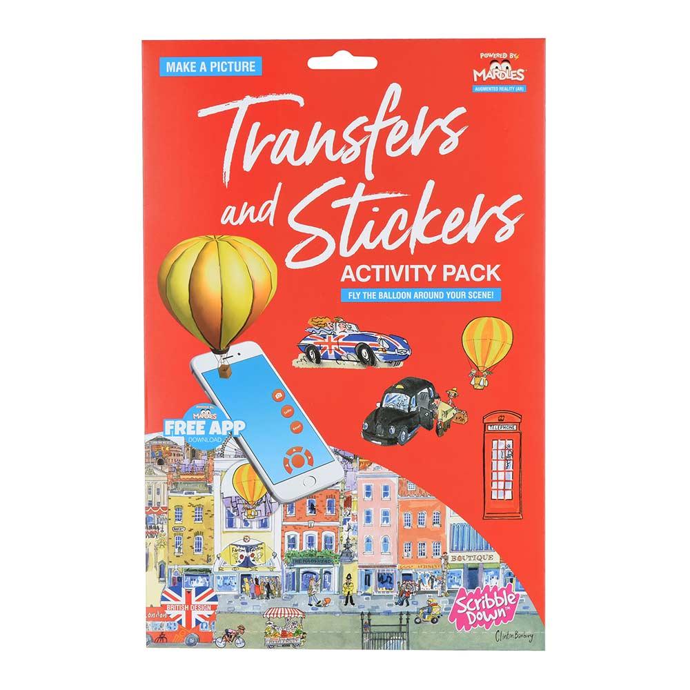 Купить Наборы для творчества и рукоделия, Набор переводных наклеек Scribble Down с онлайн приложением Лондон (SD/19)