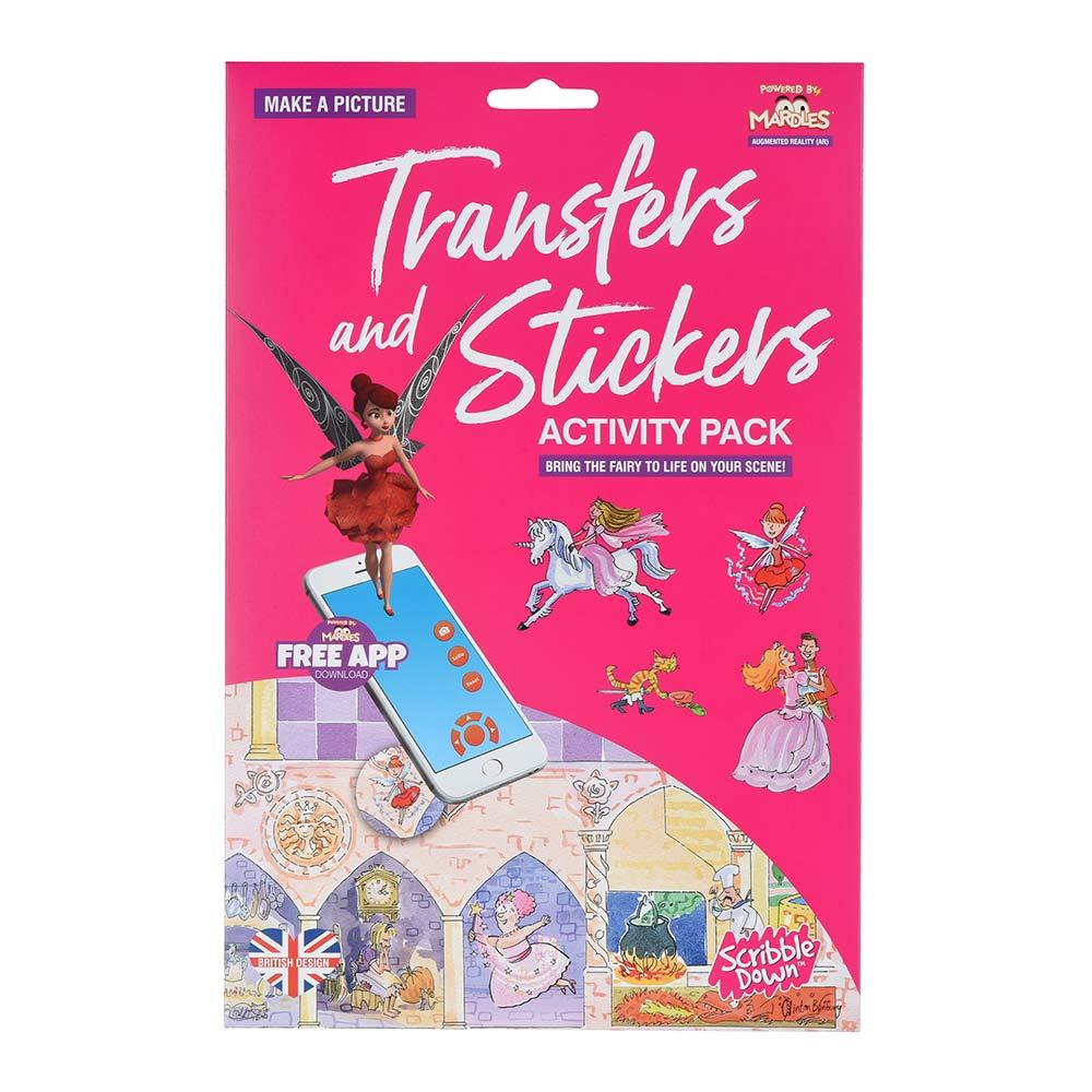 Купить Наборы для творчества и рукоделия, Набор переводных наклеек Scribble Down с онлайн приложением Сказка о принцессе (SD/21)