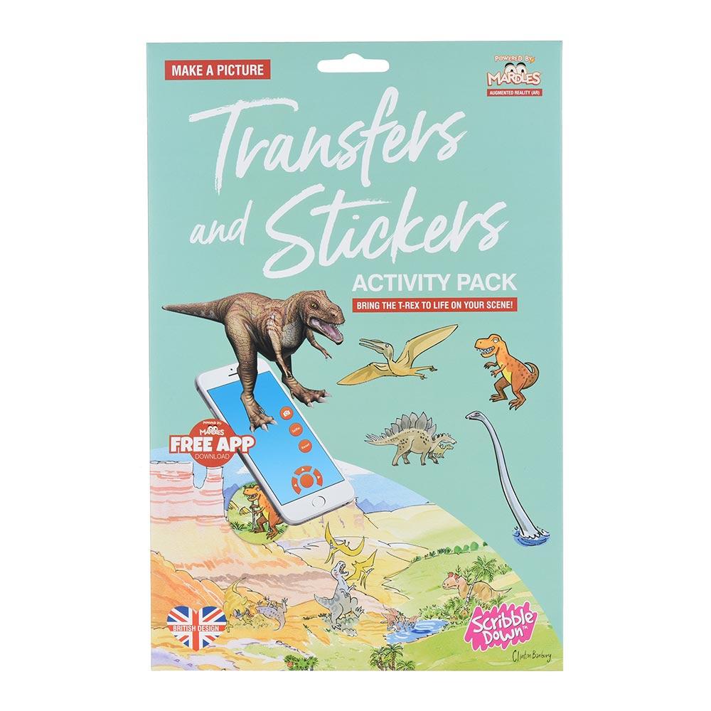Купить Наборы для творчества и рукоделия, Набор переводных наклеек Scribble Down с онлайн приложением Динозавры (SD/22)