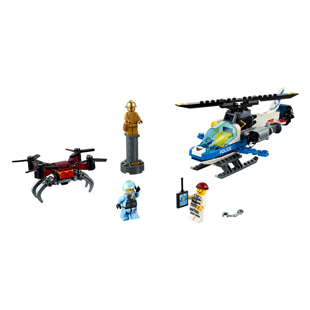 Детские конструкторы, Конструктор LEGO City Воздушная полиция Преследование с дроном (60207)  - купить со скидкой