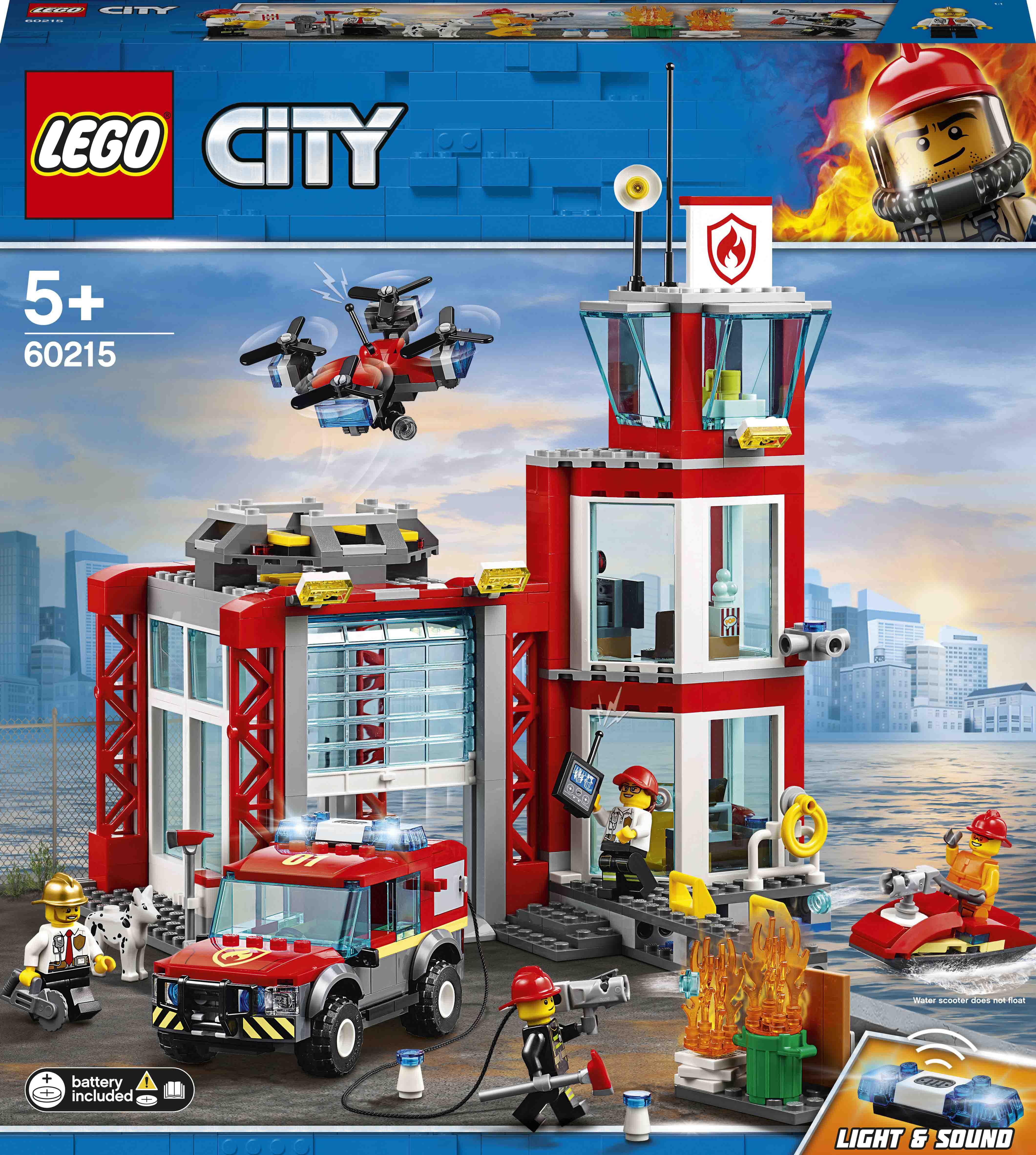 Купить Детские конструкторы, Конструктор LEGO City Пожарное депо (60215)