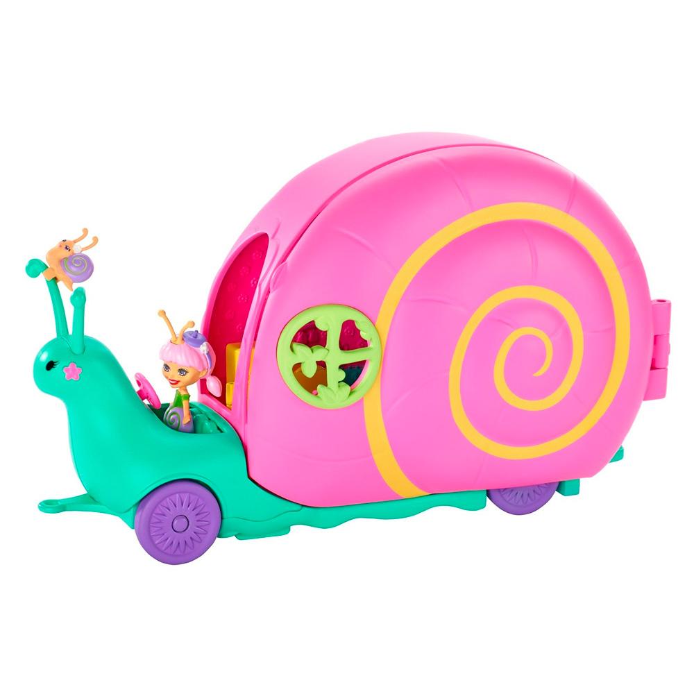 Купить Игровые наборы, Набор Enchantimals Домик на колёсах Улитка (GCT42), Mattel