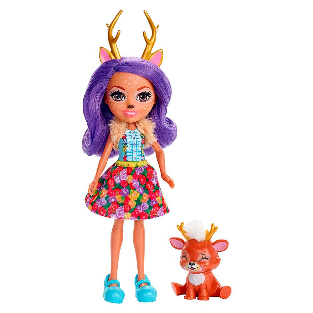 Купить Куклы, наборы для кукол, Кукла Enchantimals Оленица Дениса (FXM75), Mattel