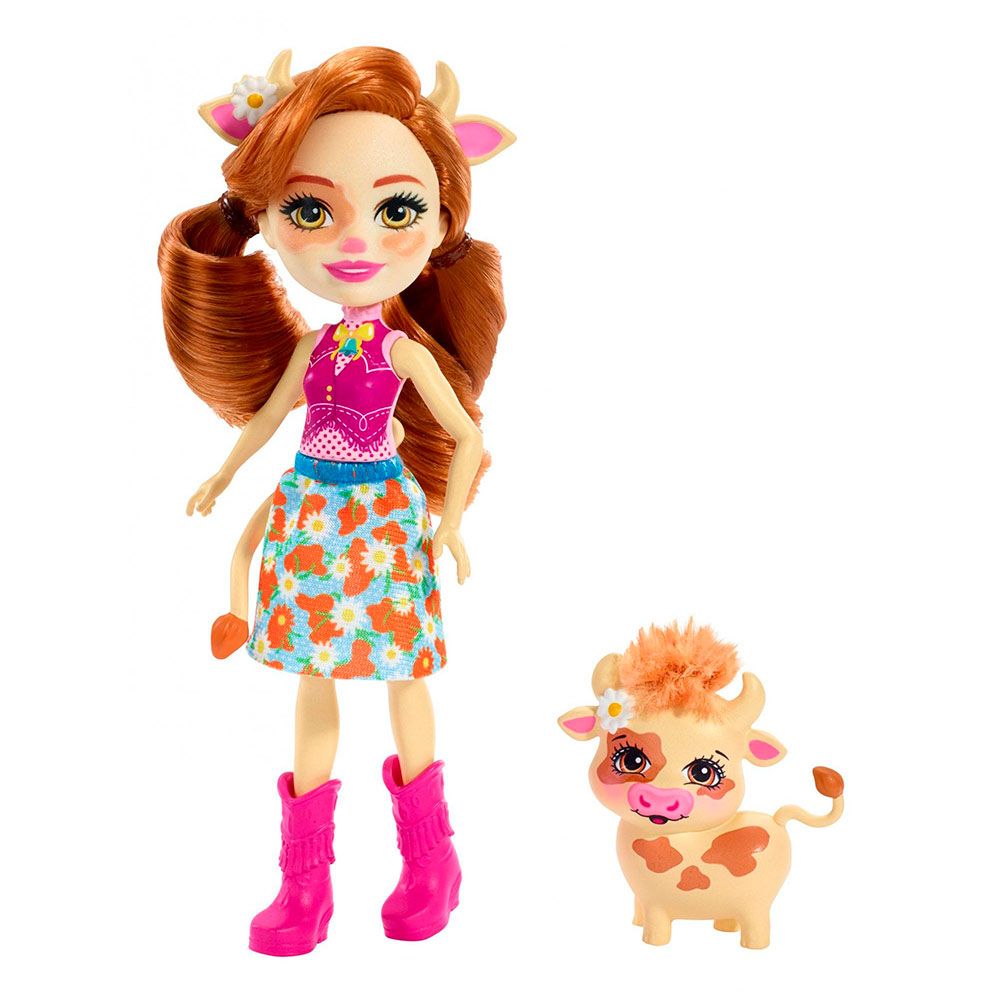 Купить Куклы, наборы для кукол, Кукла Enchantimals Коровка Кайла (FXM77), Mattel