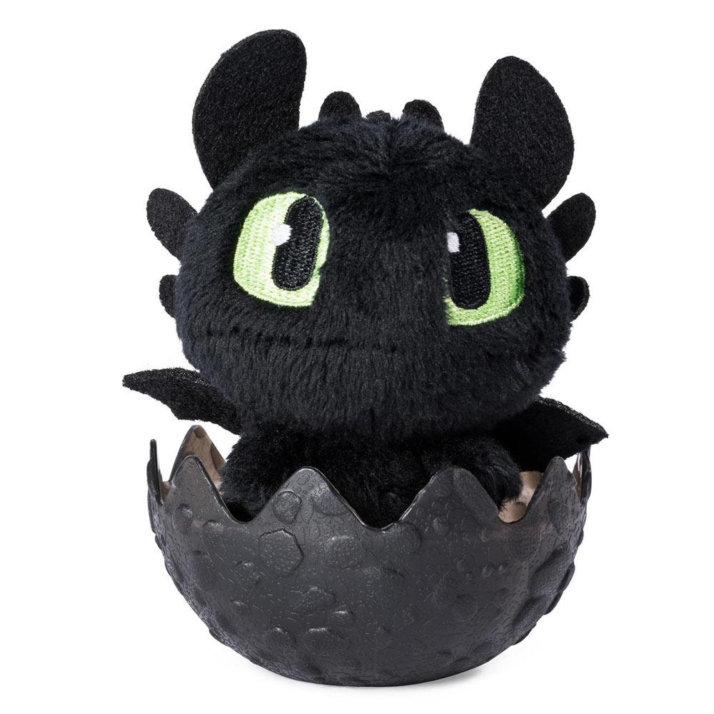 Купить Персонажи мультфильмов, игровые фигурки, Мягкая игрушка в яйце Dragons Как приручить дракона 3 Беззубик (SM66623/7526), Spin Master