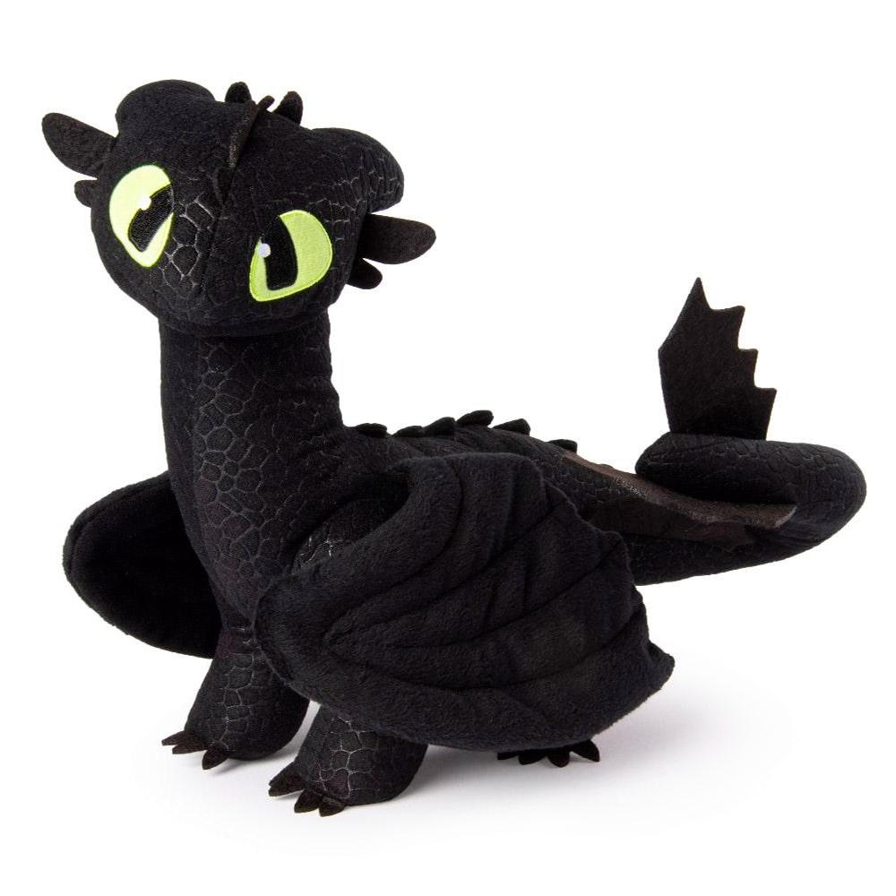 Купить Персонажи мультфильмов, игровые фигурки, Мягкая игрушка Dragons Как приручить дракона 3 Де-люкс Беззубик (SM66625), Spin Master