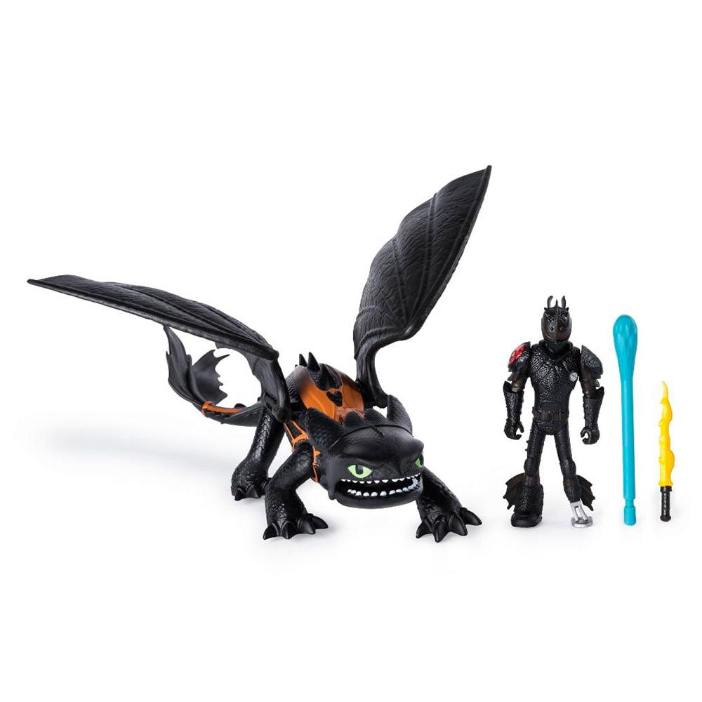 Купить Игровые наборы, Набор Dragons Как приручить дракона 3 Беззубик и всадник Иккинг (SM66621/7311), Spin Master