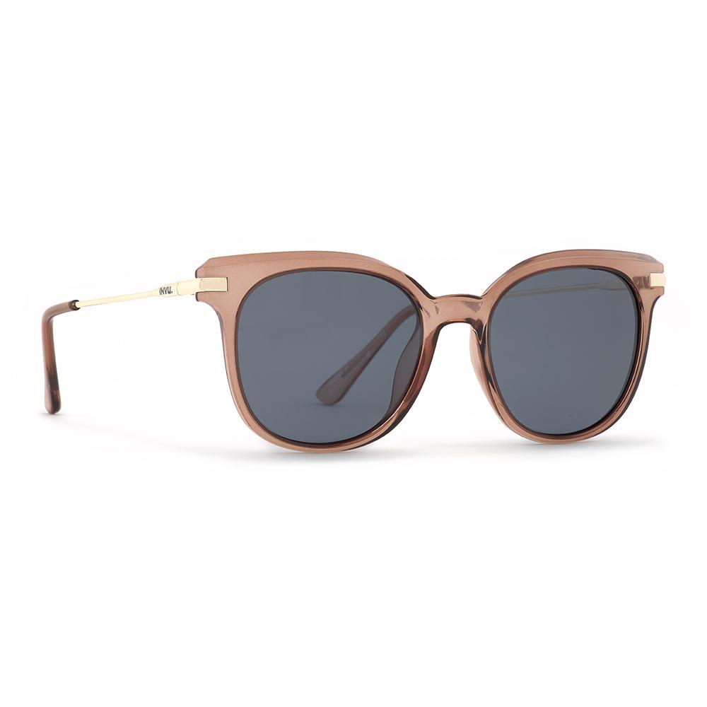 INVU / Солнцезащитные очки Polaroid Вайфареры коричневые металлическая дуга (2904B_K)