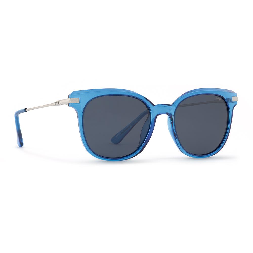 INVU / Солнцезащитные очки Polaroid Вайфареры синие металлическая дуга (2904D_K)