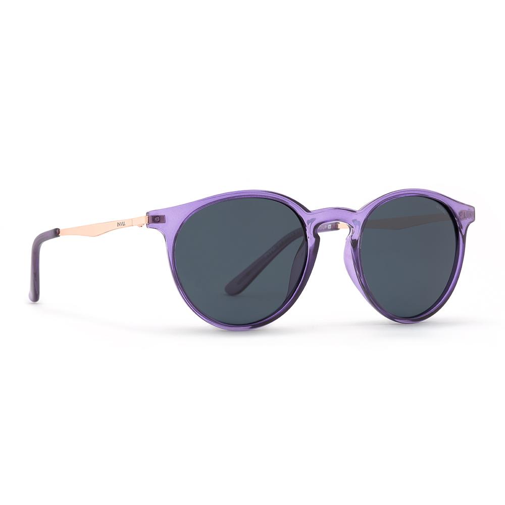 INVU / Солнцезащитные очки Polaroid Круглые  фиолетовые металлическая дуга (2905C_K)