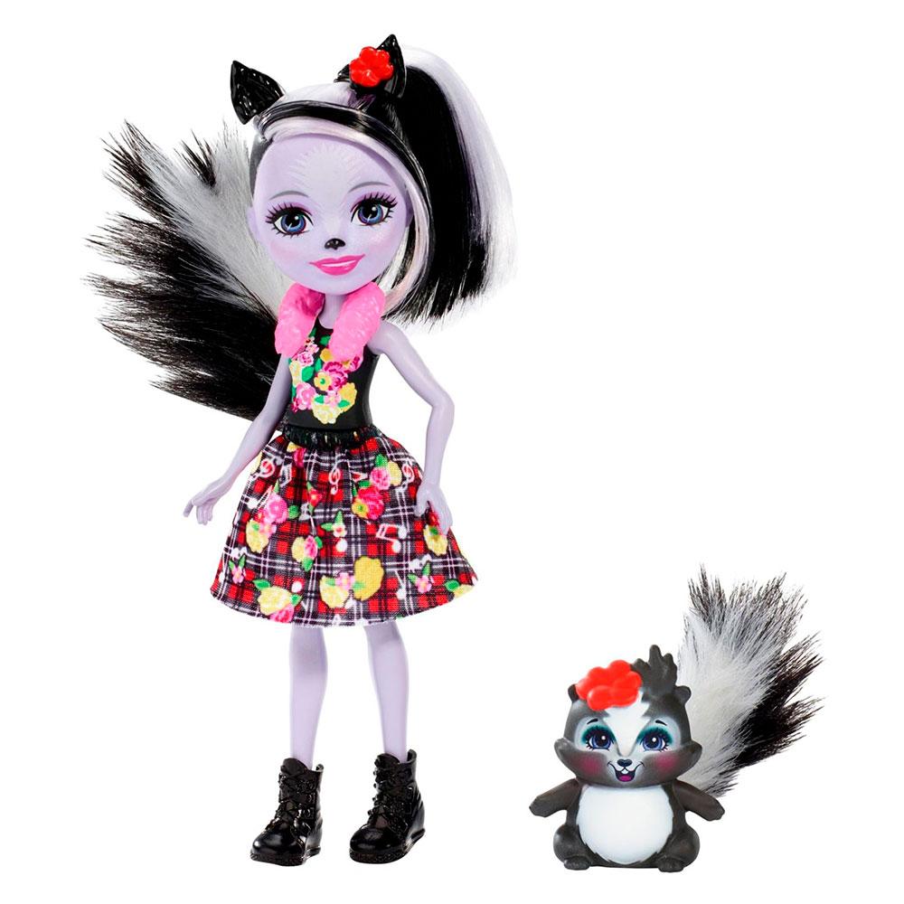 Купить Куклы, наборы для кукол, Кукла Enchantimals Скунсик Сейдж (FXM72), Mattel