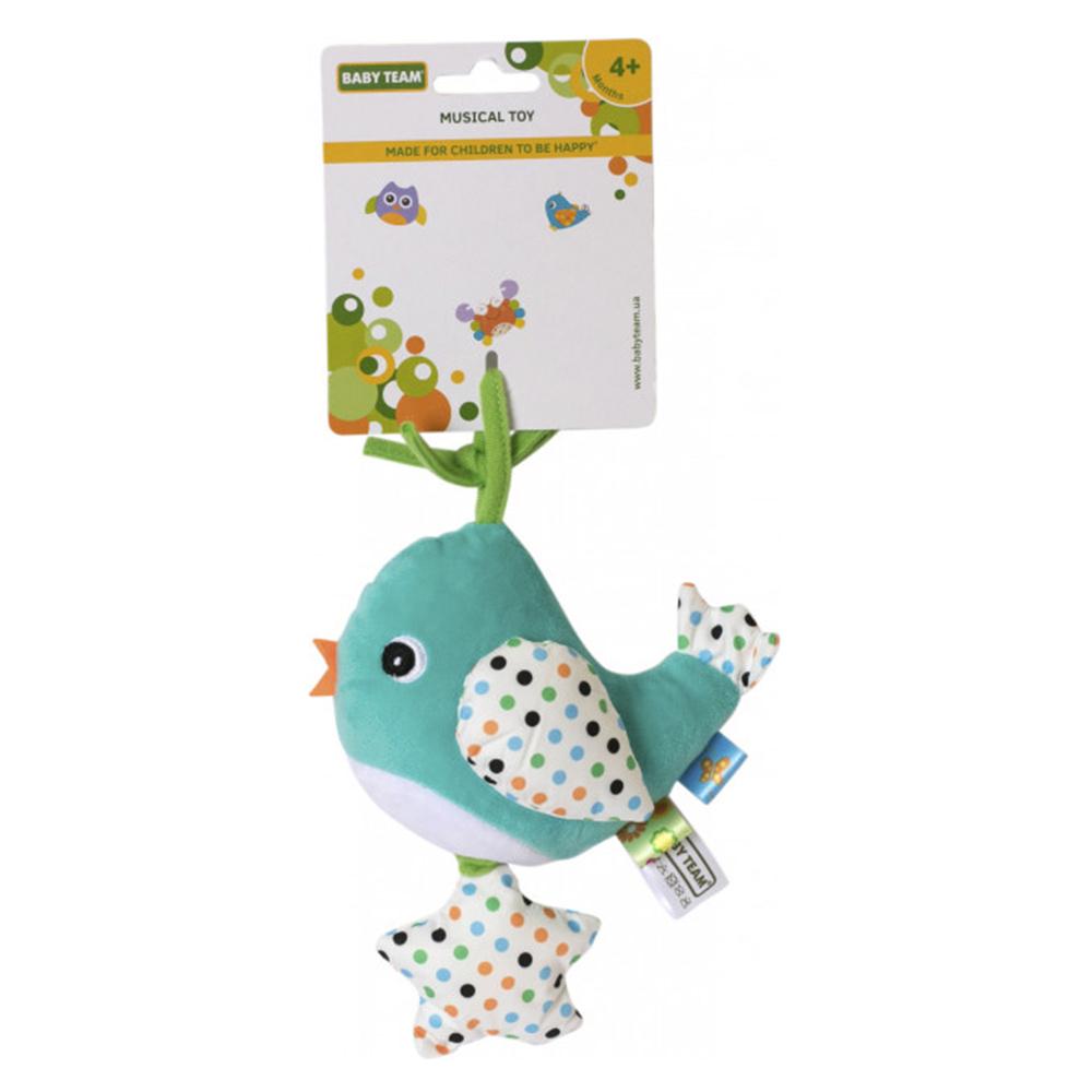 Купить Погремушки, подвески, прорезыватели, Игрушка-подвеска Baby Team Птичка голубая музыкальная (8543/1)