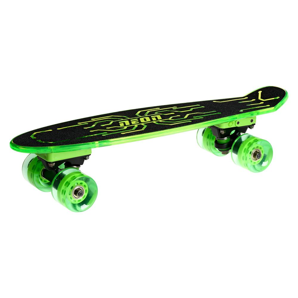 Купить Скейтборды, Скейт Neon Hype зелёный (N100789)