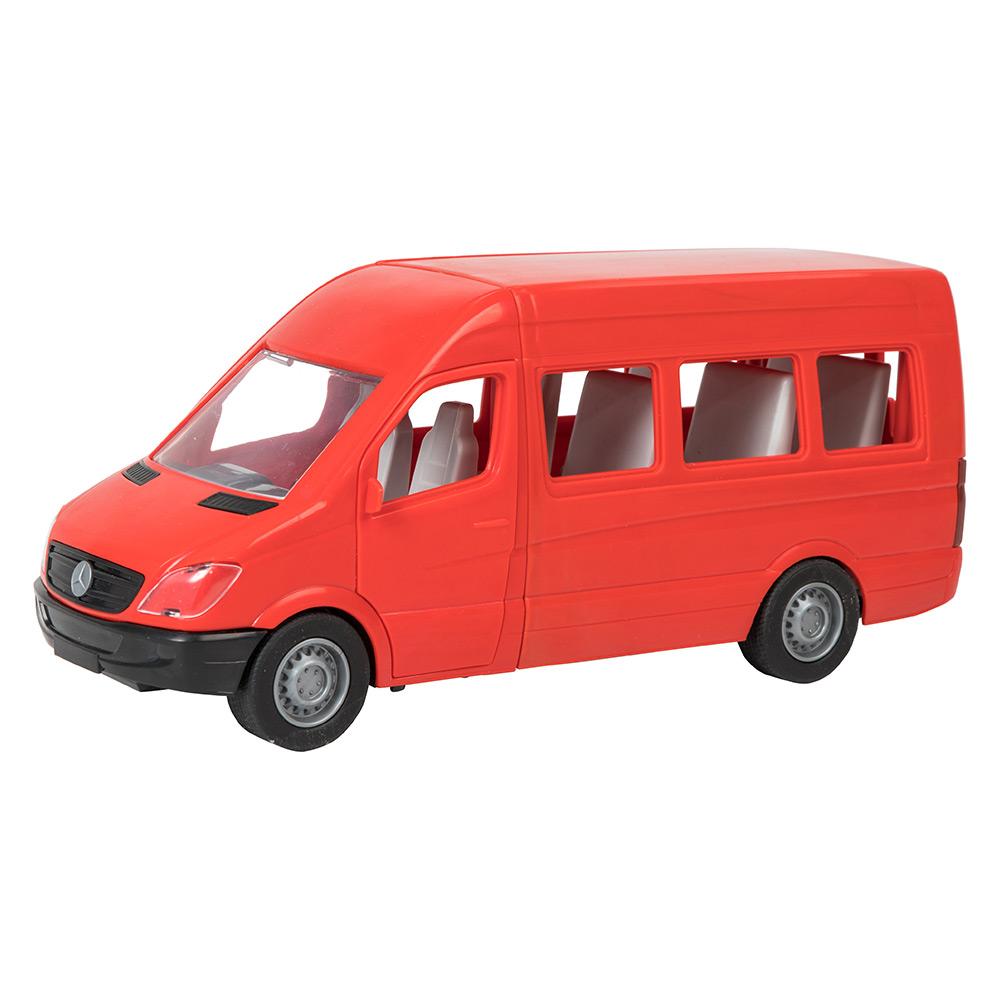 Купить Машинки, модели техники, Автомобиль Тигрес Mercedes-Benz Sprinter пассажирский красный (39656)
