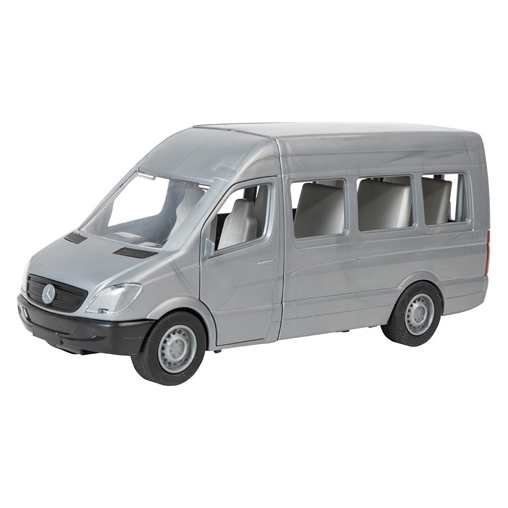 Купить Машинки, модели техники, Автомобиль Тигрес Mercedes-Benz Sprinter пассажирский серый (39658)