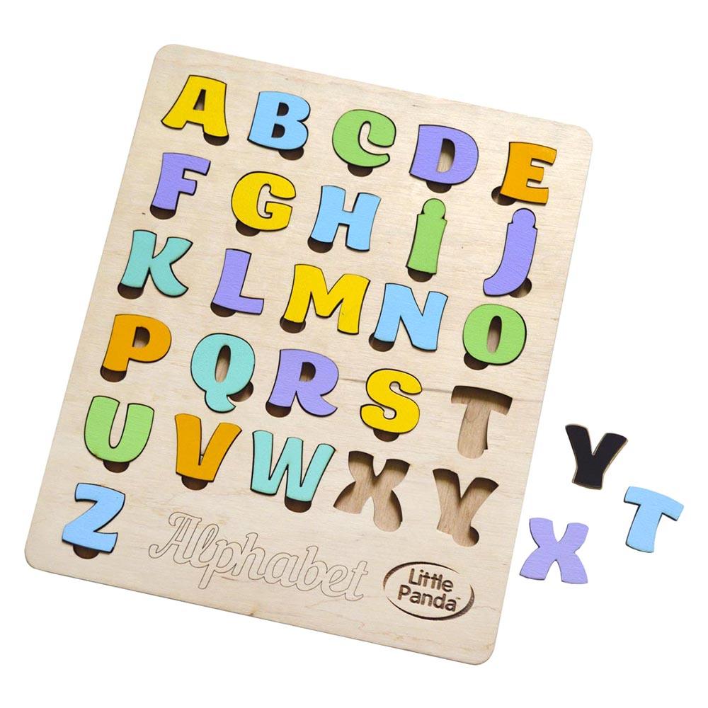 Купить Игрушки для самых маленьких, Сортер Little Panda Английский алфавит магнитный (4823720032290)