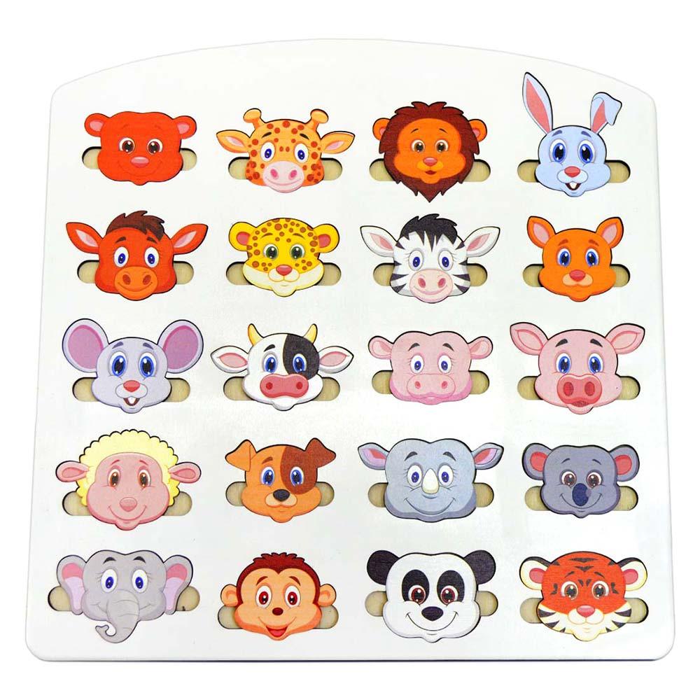 Купить Игрушки для самых маленьких, Большой сортер Little Panda Веселые мордашки (4823720032375)