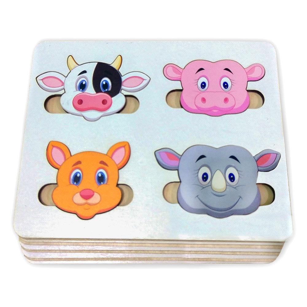 Купить Игрушки для самых маленьких, Дорожный сортер Little Panda Веселые мордашки (4823720032382)