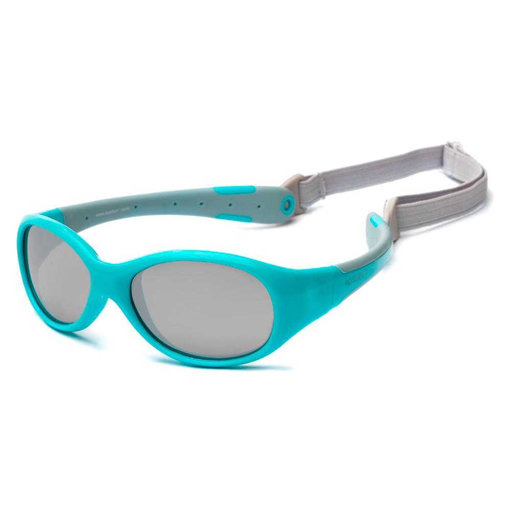 Купить Солнцезащитные очки Koolsun Flex бирюзово-серые до 3 лет (KS-FLAG000)