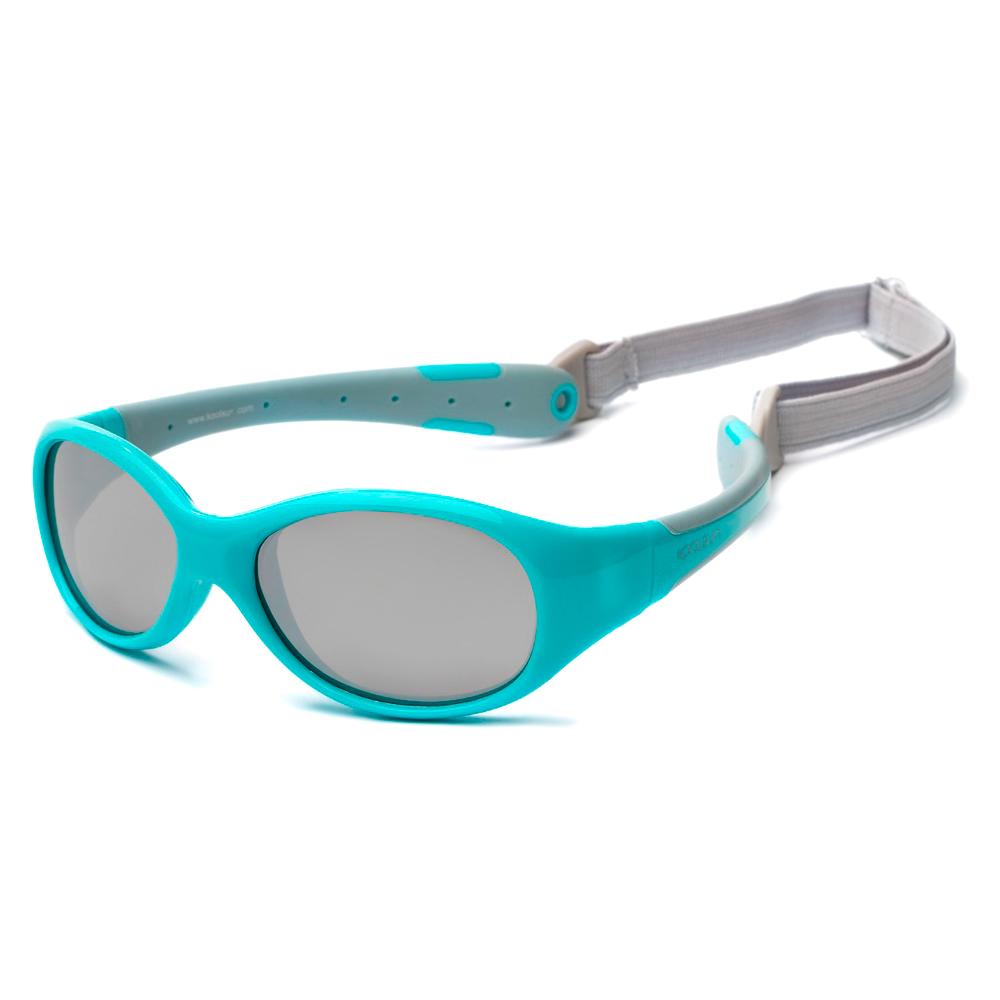 Купить Солнцезащитные очки Koolsun Flex бирюзово-серые до 6 лет (KS-FLAG003)