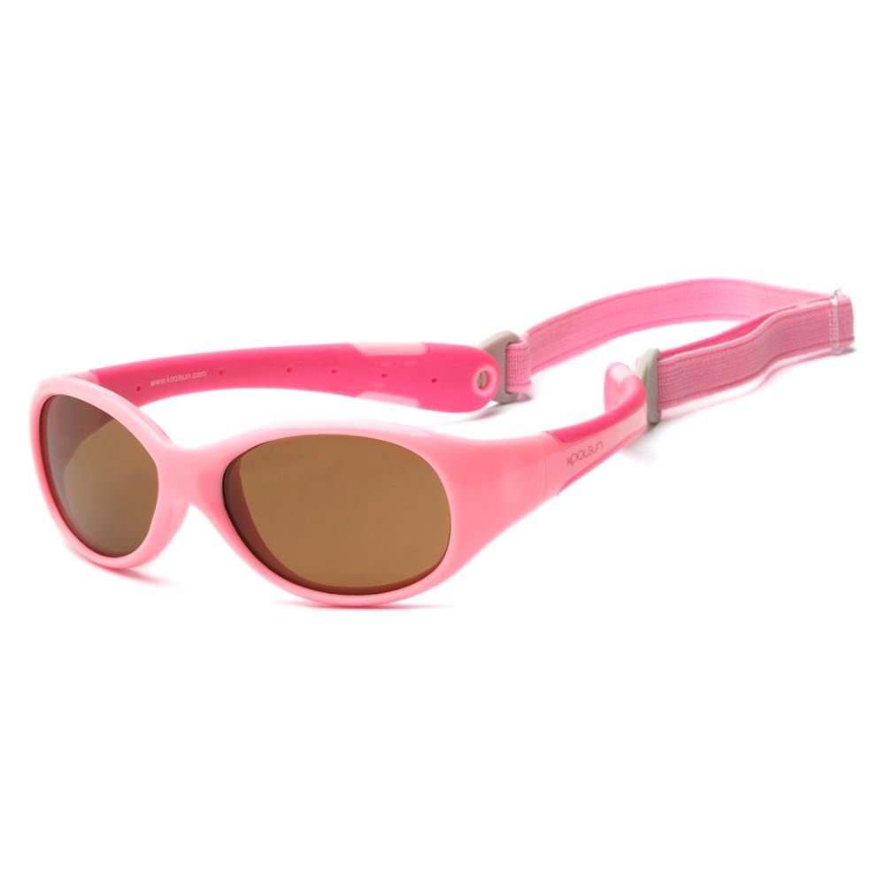 Купить Солнцезащитные очки Koolsun Flex розовые до 3 лет (KS-FLPS000)