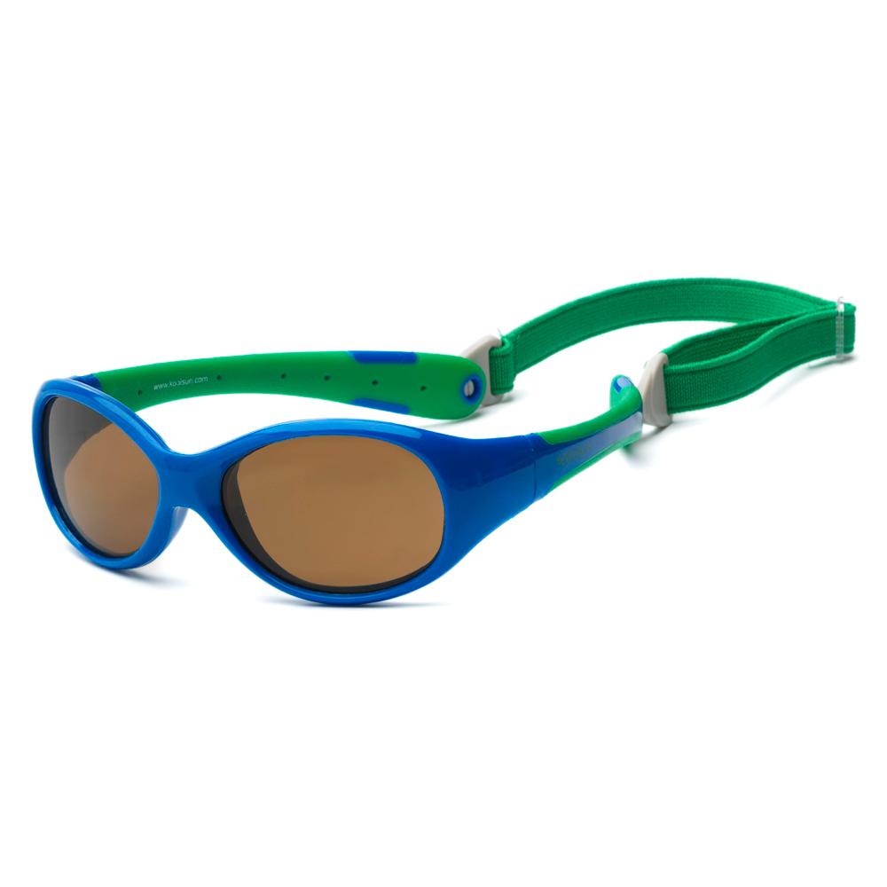 Купить Солнцезащитные очки Koolsun Flex сине-зеленые до 3 лет (KS-FLRS000)