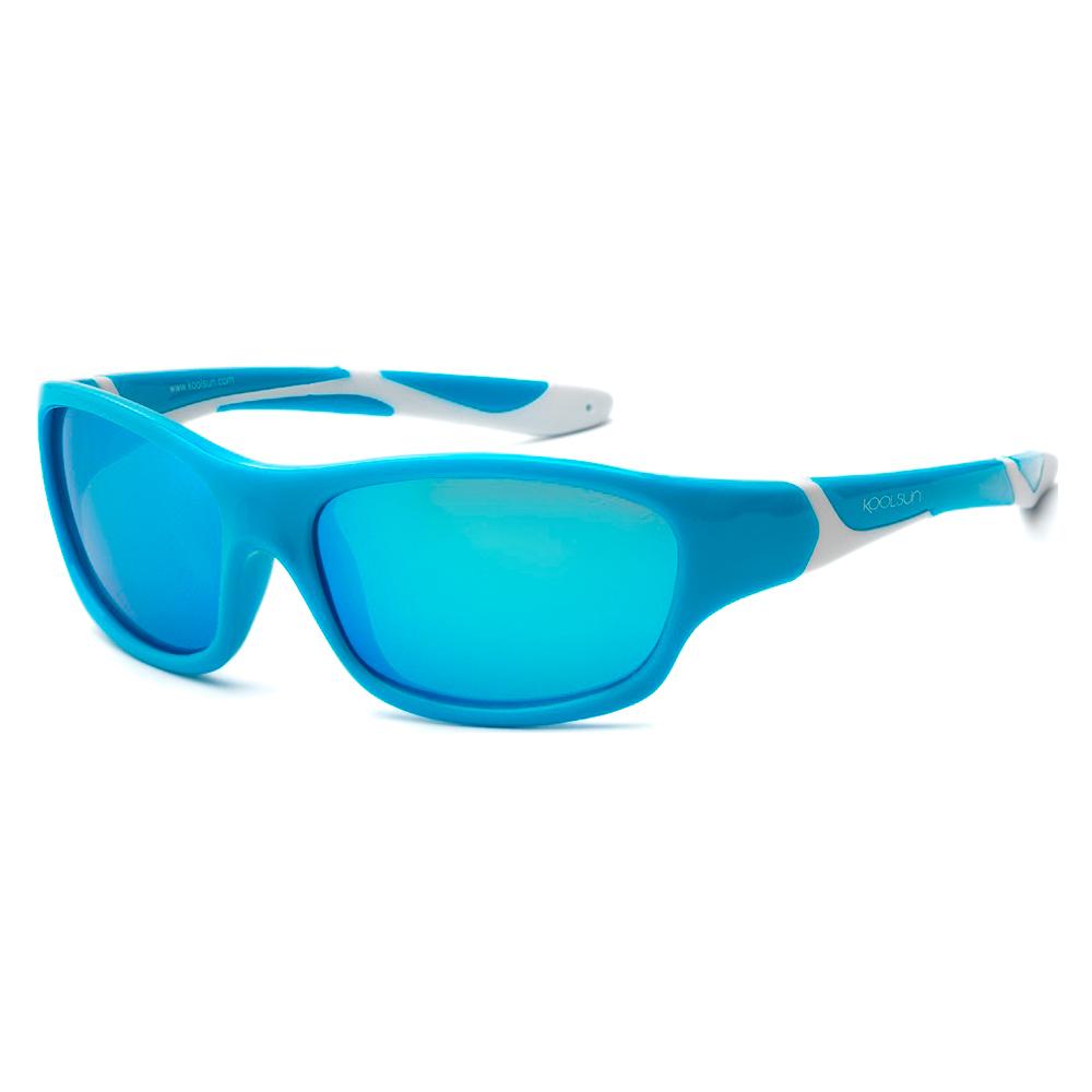 Купить Солнцезащитные очки Koolsun Sport бирюзово-белые до 8 лет (KS-SPBLSH003)