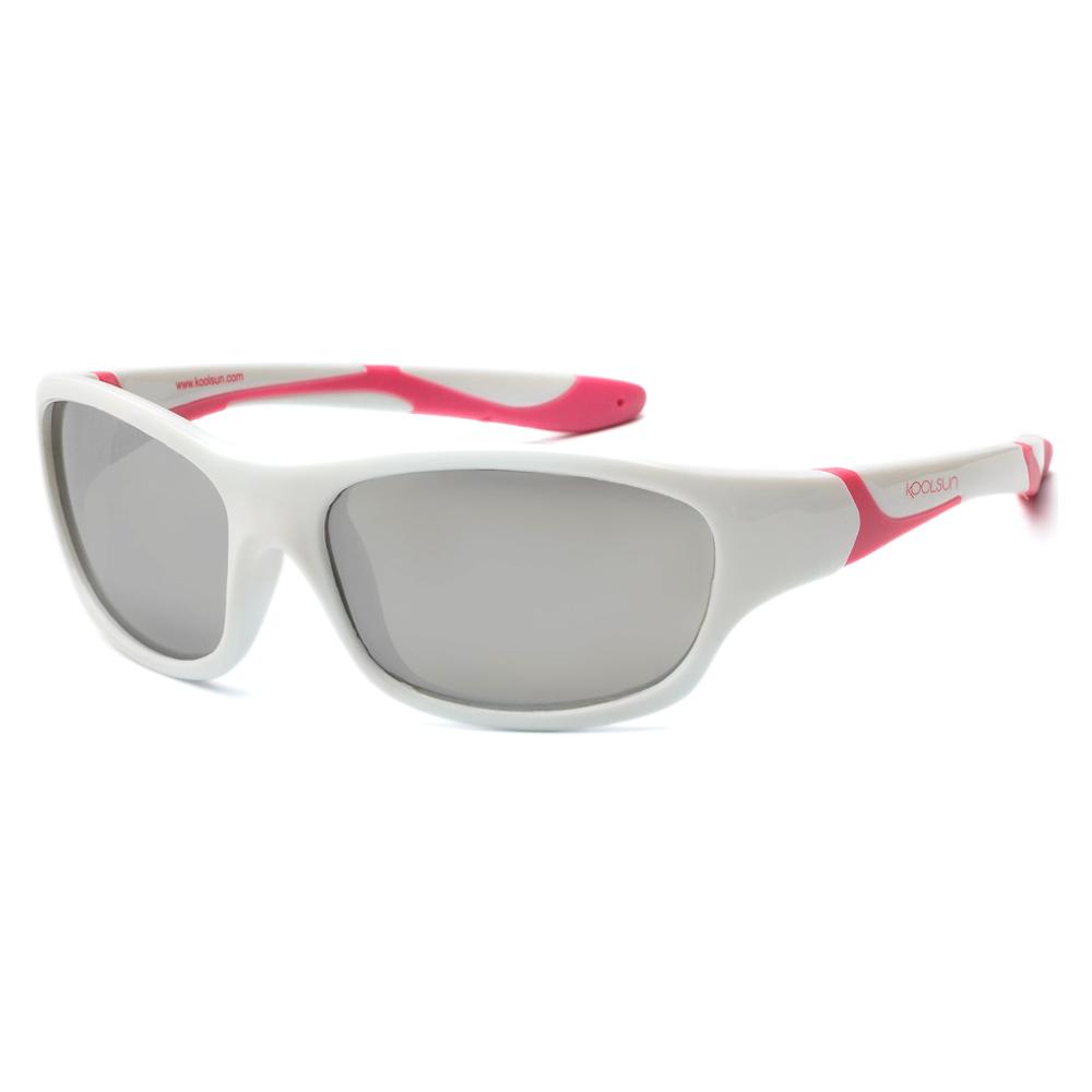 Купить Солнцезащитные очки Koolsun Sport бело-розовые до 8 лет (KS-SPWHCA003)