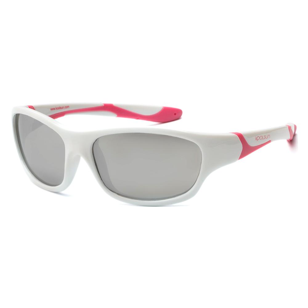 Купить Солнцезащитные очки Koolsun Sport бело-розовые до 12 лет (KS-SPWHCA006)