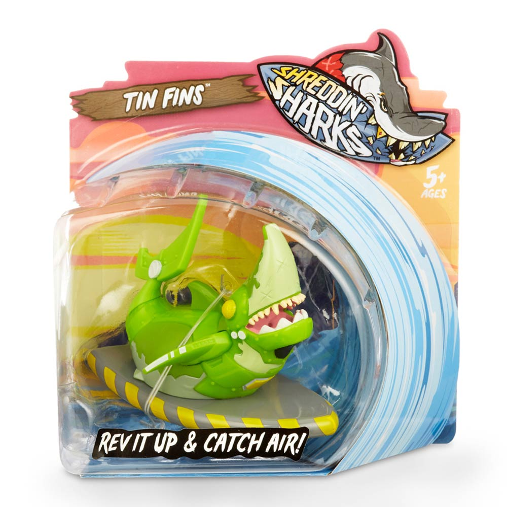 Фингерборд Shreddin sharks Tin fins с фигуркой (561958)